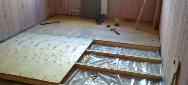 Лаги на бетонный пол под фанеру