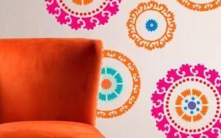 Трафареты для покраски стен своими руками шаблоны