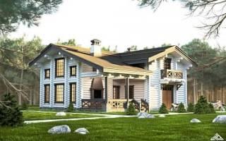 Дом в русском стиле из кирпича