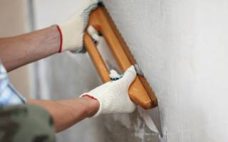 Расчет материалов на шпаклёвку стен балкона