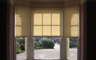 Римские шторы без сверления на пластиковые окна