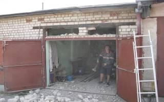 Перемычка над воротами гаража