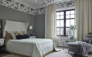Какие шторы подобрать к серым обоям