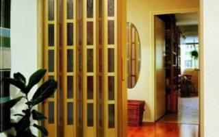 Раздвижные двери гармошка виды особенности установки