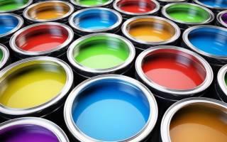 Цветная покраска стен