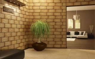 Декоративная плитка в комнате