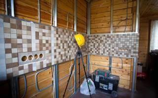 Гипсокартон на деревянные стены