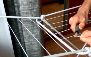 Как починить напольную сушилку для белья