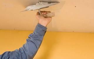 Шпаклевание потолков из гипсокартона под покраску