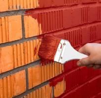 Покрасить стену под кирпич