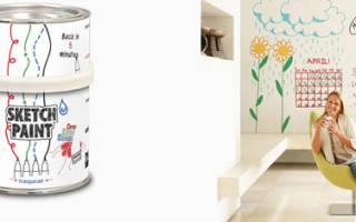 Магнитно маркерная краска для стен