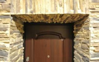 Отделка дверного проема входной двери