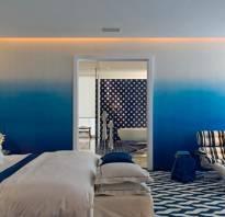 Покраска стен градиентом