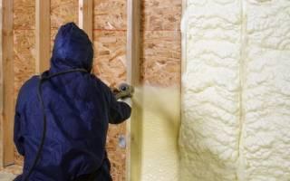 Утепление стен полиуретаном
