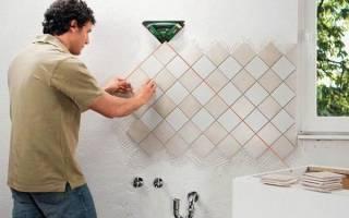 Как облицевать стены плиткой