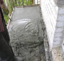 Расчет материалов для стяжки на балконе или лоджии