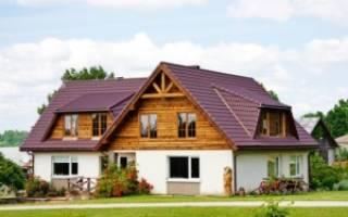 Кирпично деревянный дом фото