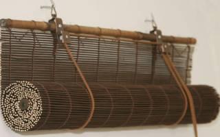 Установка межкомнатной бамбуковой шторы