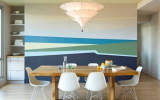 Оформление стен краской