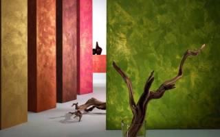 Отделка стен фактурной краской
