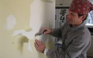 Как быстро очистить стены от краски