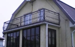 Устройство балкона на мансарде