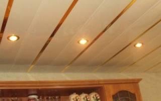 Реечный потолок материал
