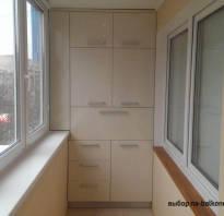 Варианты устройства шкафа на лоджии и балконе