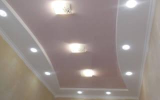Как делают потолки из гипсокартона