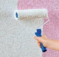 Покраска стен под декоративную штукатурку
