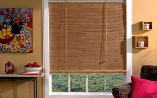 Виды бамбуковых штор на окна