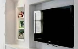 Ниша под телевизор из гипсокартона фото
