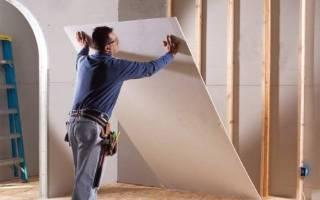 Гипсокартон на деревянную стену