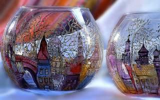 Акриловые краски для рисования на стекле