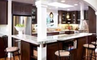 Арки на кухне из гипсокартона
