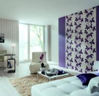Комбинирование обоев и покраски стен