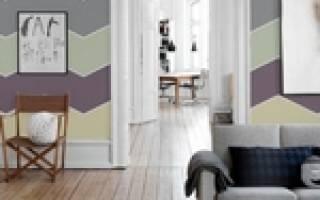 Окраска стен разными цветами