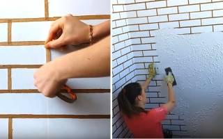 Как сделать дома кирпичную стену
