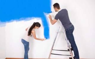 Покраска стен технология