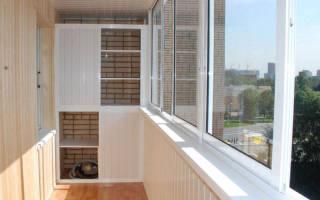 Внутренняя отделка балкона материалы