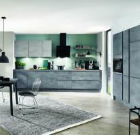 Кухня темный бетон