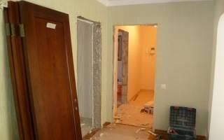 Демонтаж дверей межкомнатных