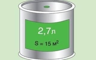 Сколько потребуется краски на 1 квадратный метр