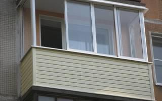 Наружная и внутренняя отделка сайдингом балкона и лоджии