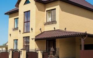 Фасады домов из желтого кирпича