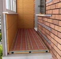 Расчет теплого пола для балкона и лоджии