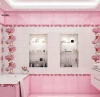 Кафельная плитка розовая