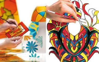 Как приготовить витражные краски в домашних условиях
