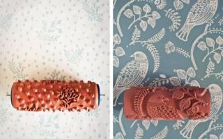 Текстурный валик для покраски стен