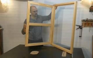 Как делают окна из дерева